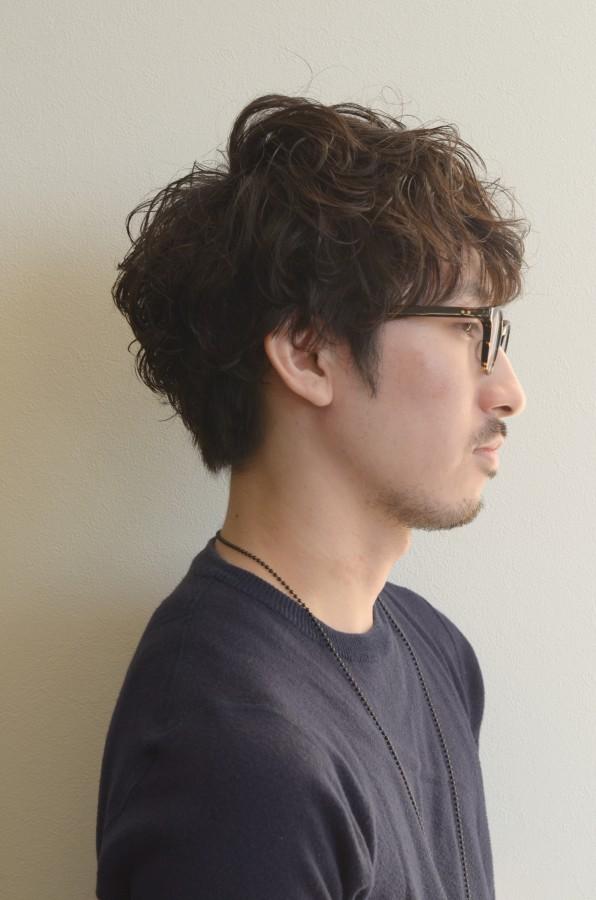 個性が光る メンズパーマスタイルSide写真
